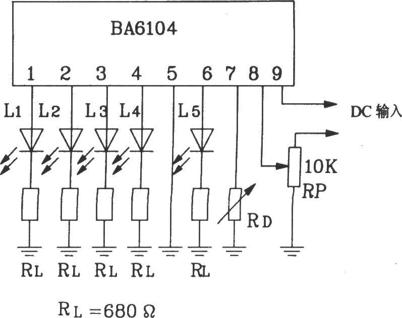 the basic application circuit of ba6104 5
