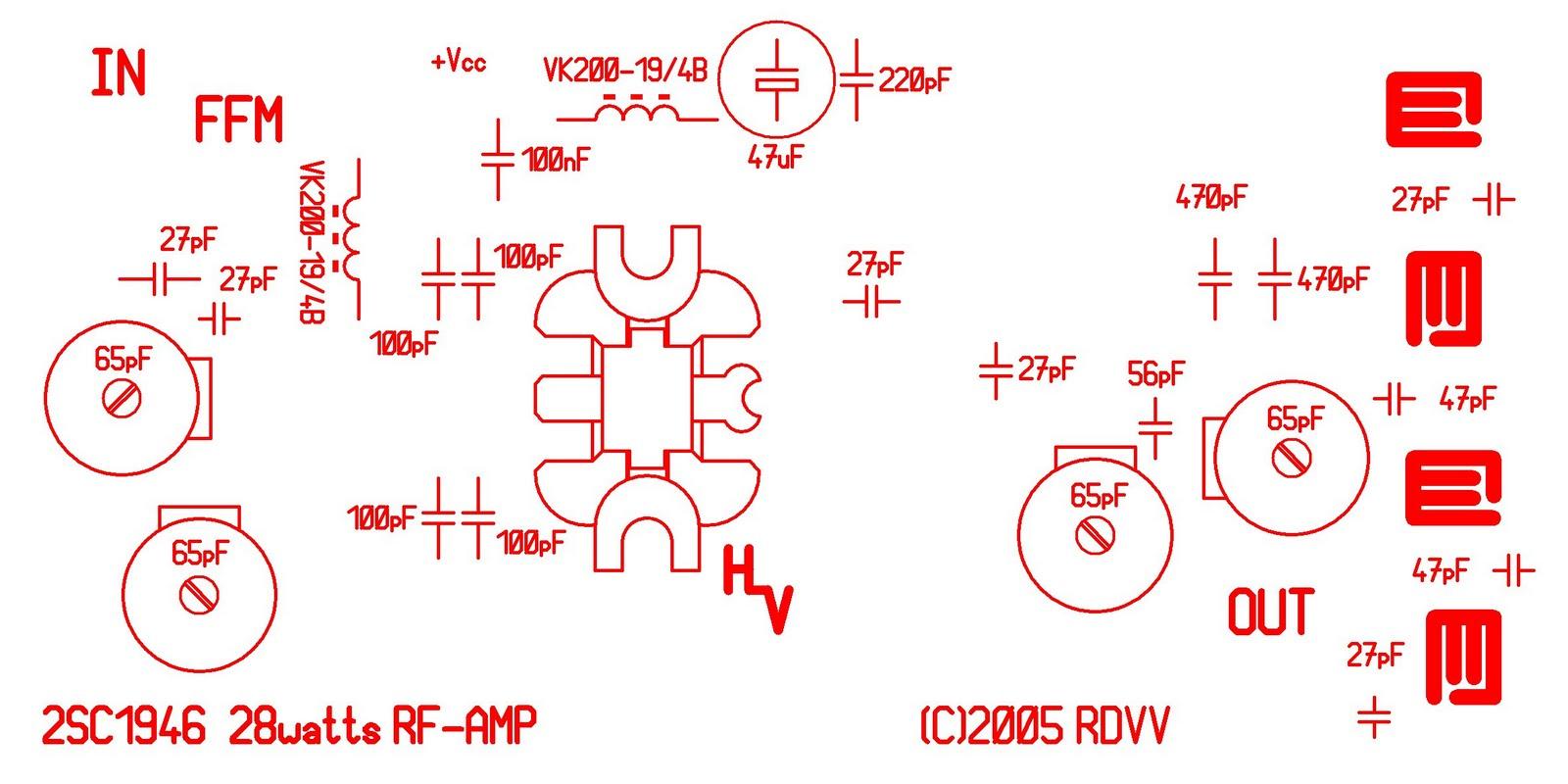 28w Fm Broadcast Transmitter Amplifier 88 108 Mhz Circuit Diagram