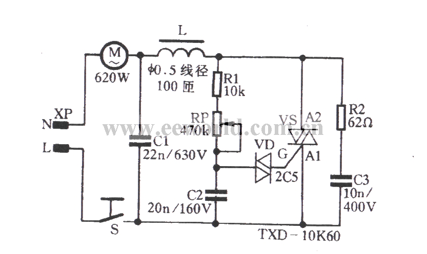 the chunhua cleaner electronic speed control circuit