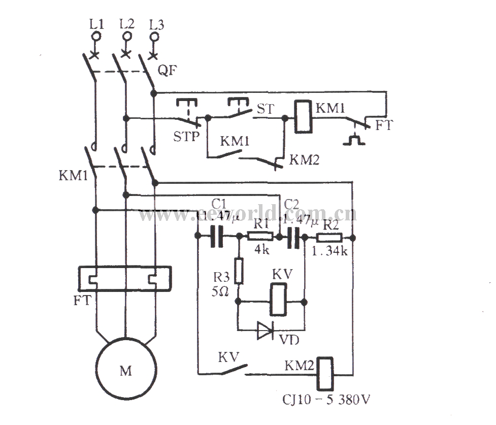 Resistance Capacitance Phase Protection Circuit