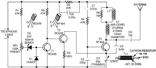 phone spy transmitter - signal processing