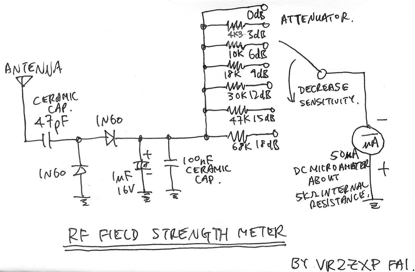 Marvelous Field Strength Meter Circuit Schematic Diagram Basic Electronics Wiring Digital Resources Remcakbiperorg