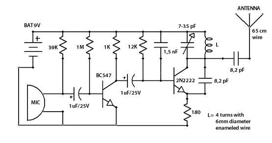 sensitive fm transmitter bug - signal processing