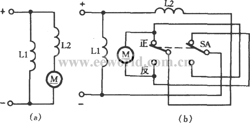dc compound motor commutation circuit