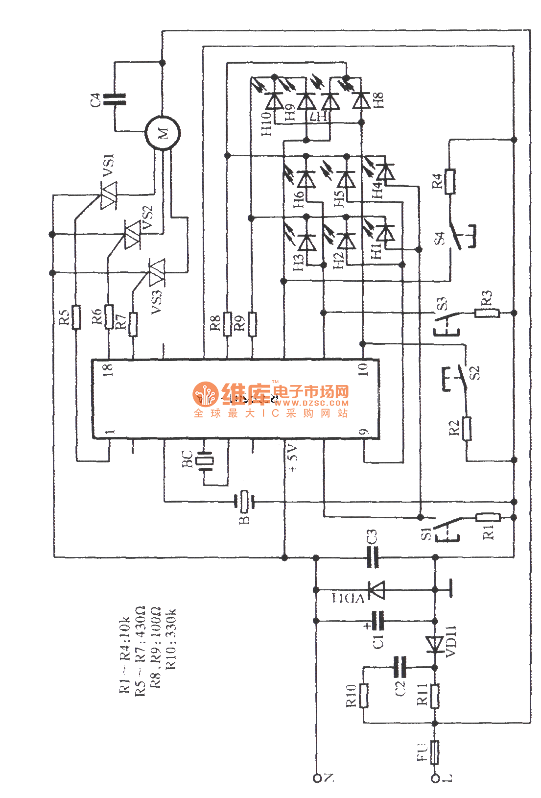 great wall programmed box fan circuit - electrical equipment circuit - circuit diagram