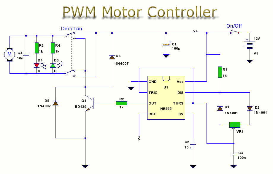Pwm motor control control circuit circuit diagram for Motor speed control pwm