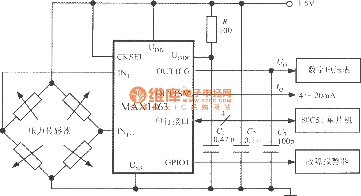 High Accuracy Pressure Measurement System Circuit Diagram Composed Seekiccom Circuitdiagram Basiccircuit Binarycountercircuithtml Of Intelligent Dual Channel Sensor Signal