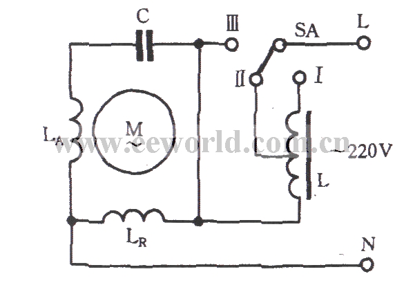 Single Phase Motor Reactor Buck Speed Control Circuit