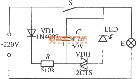 flashing light indication light switch circuit