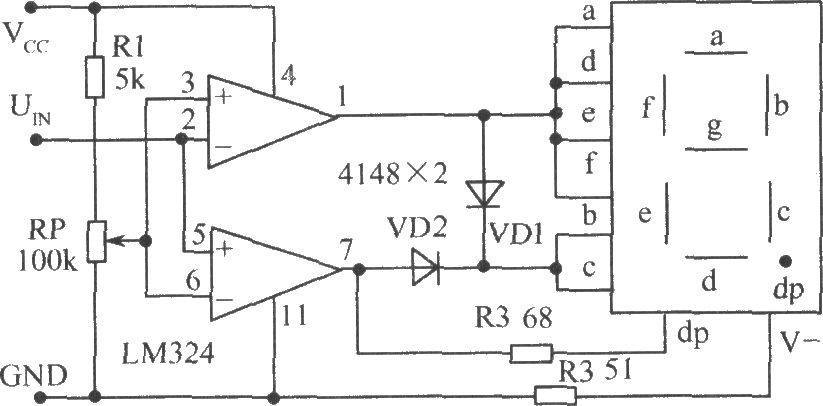 level test circuit using voltage comparator lm324 - measuring and test circuit