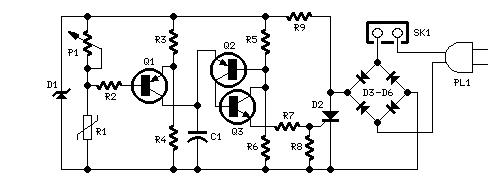 temperature-controlled fan - control circuit