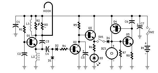 door alarm - control circuit - circuit diagram