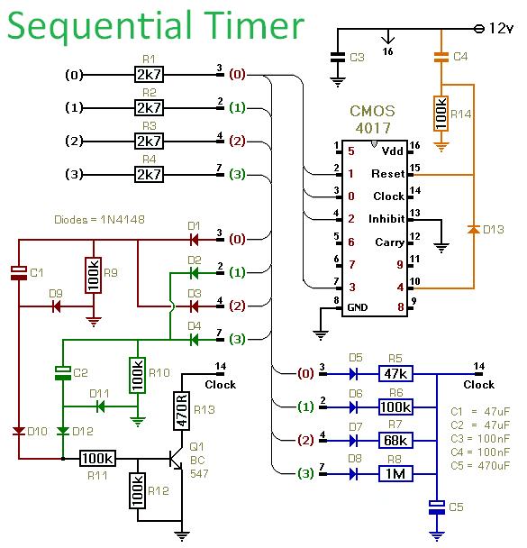 sequential timer circuit circuit diagram seekic
