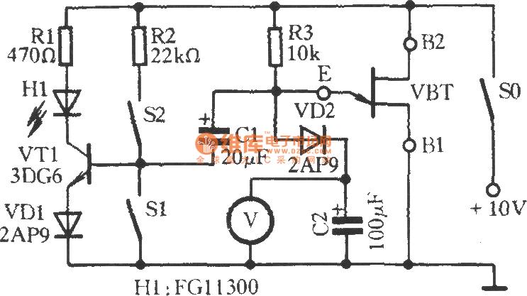 unijunction transistor working performance speed measurement circuit