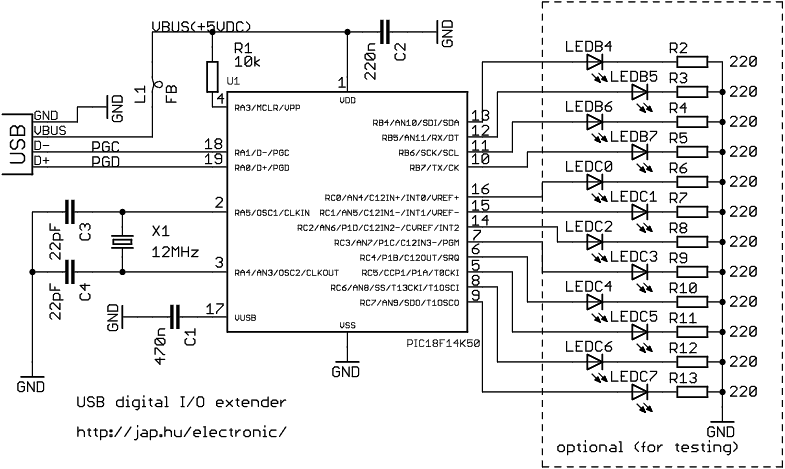 Usb digital io extender basiccircuit circuit diagram seekic usb digital io extender asfbconference2016 Image collections