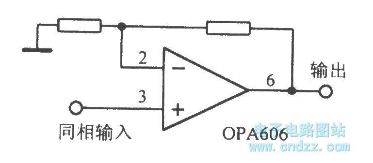 the opa606 broadband difet operational amplifier circuit - amplifier circuit