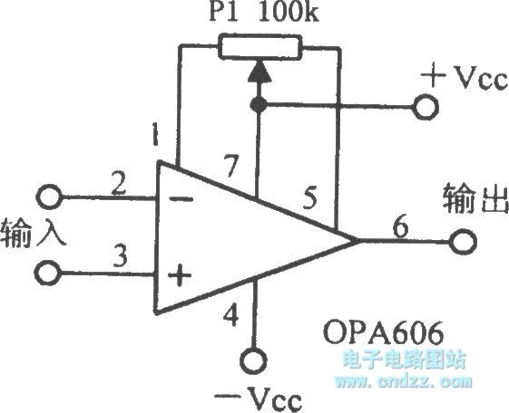 the opa606 broadband difet operational amplifier circuit