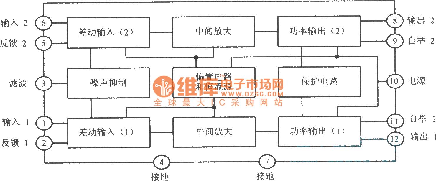 Ta7240ap Internal Block Diagram And Its Main Parameters Basic Home Wiring Diagrams Http Wwwseekiccom Circuitdiagram
