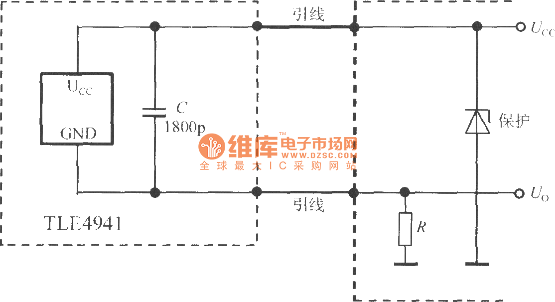 Typical application circuit of two- wire smart Hall sensor ... on