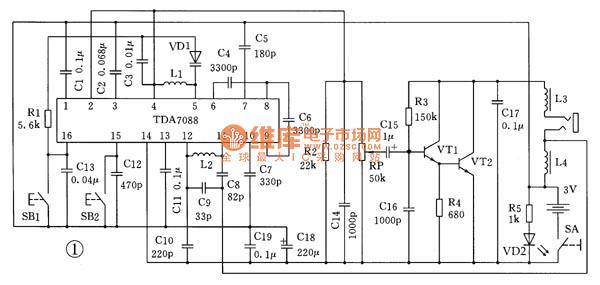 пополнение каталога, приемник на китайской микросхеме 7088 с обратным сканированием опасный дикий