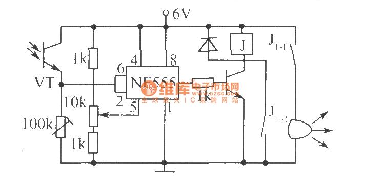 the circuit of photoelectric controlling - control circuit - circuit diagram