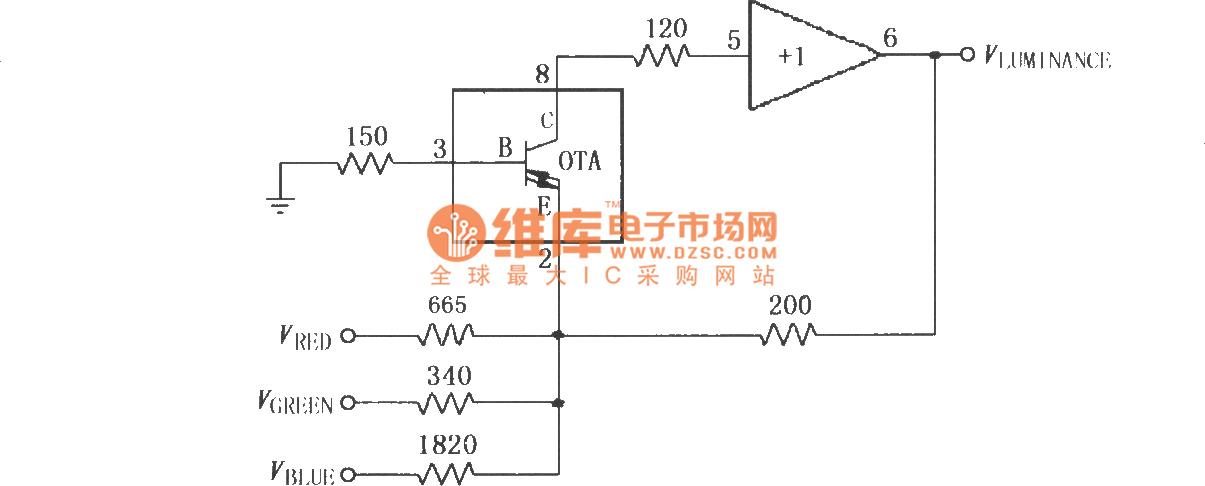 video luminance matrix circuit composed of broadband rh seekic com