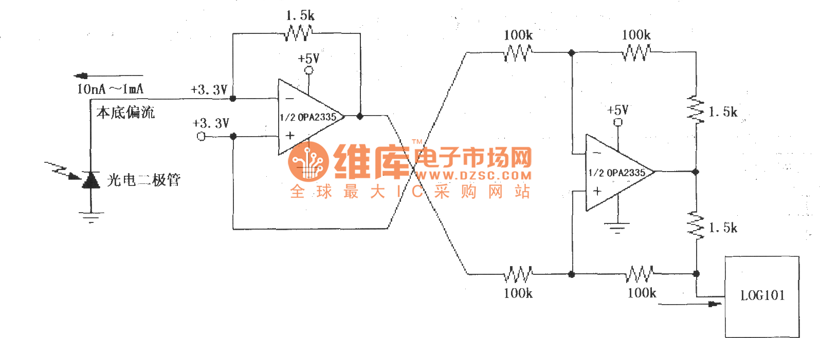 Precision Current Inverter Source Circuit 2 Composed Of The Opamp Log101 104 And Op Amp