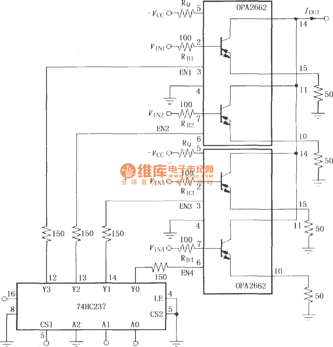 Current Allocation Multiplexing Circuit Composed Of Double Broadband Index 160 Amplifier Diagram Seekiccom Transconductance Operational Opa2662