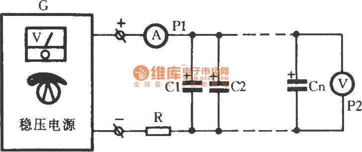 burn-in circuit with aluminum electrolytic capacitor - basic circuit - circuit diagram