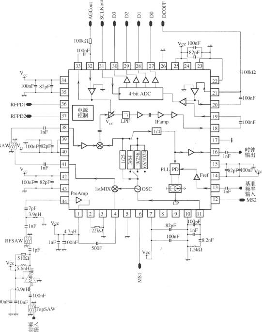 u03bcpb1009k - based gps receiver rf front-end circuit