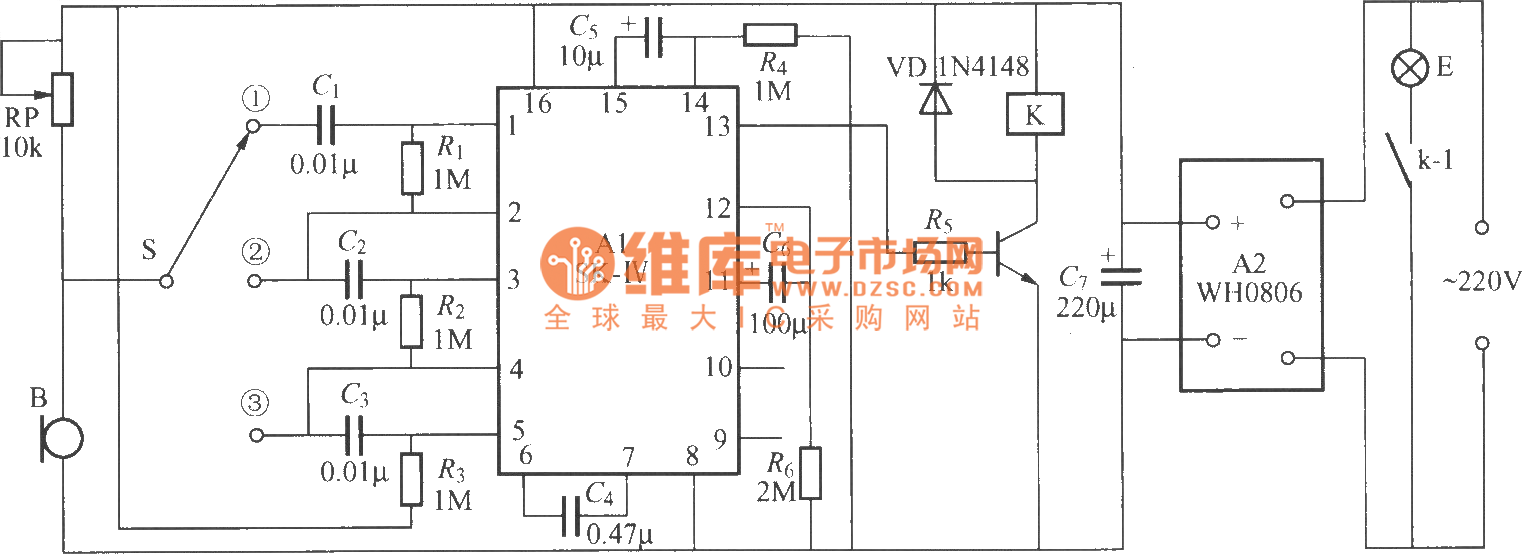 Voice Activated Delayed Light Switch Circuit 1 Basic Index 21 555 Diagram Seekiccom
