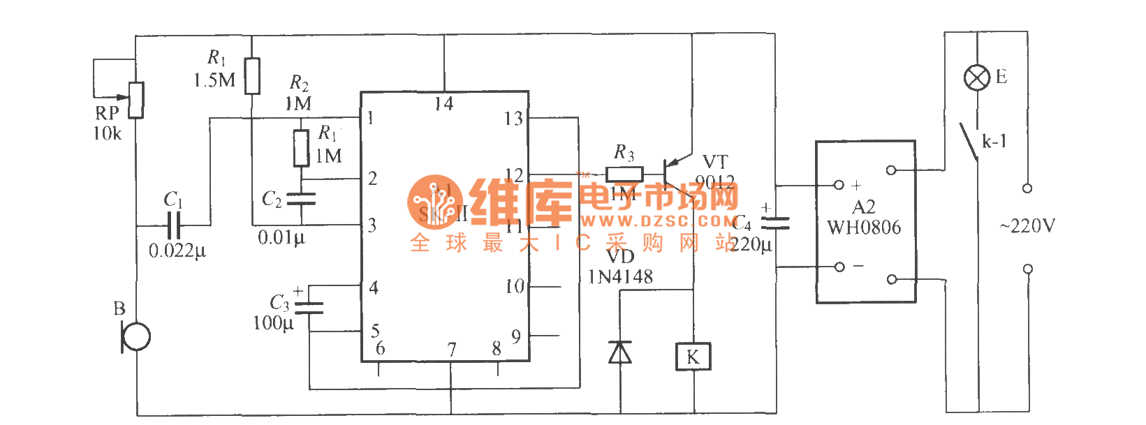 Voice Activated Delayed Light Switch Circuit 2 Basic Index 209 Control Diagram Seekiccom