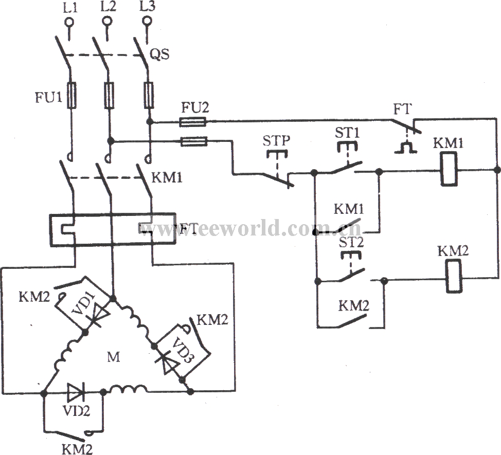 Three Phase Motor Low Speed Operation Circuit Basic Shuntpindioderfswitch Basiccircuit Diagram Seekic