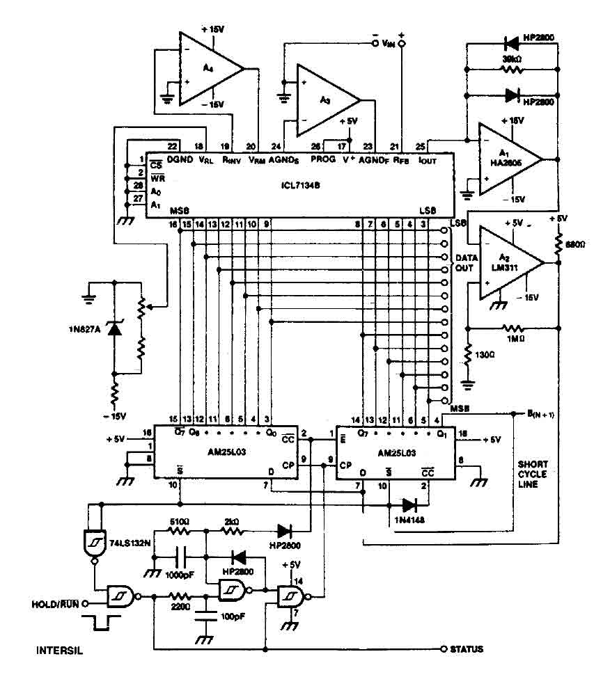 A D Converter Circuit Best Electrical Wiring Diagram Digital Adconverter Addaconvertercircuit 14 Bit With Icl7134b 8