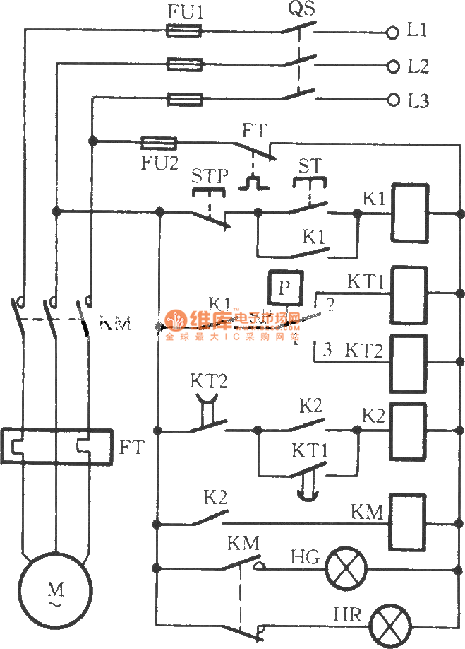 The series connecting control circuit of electric contact pressure ...