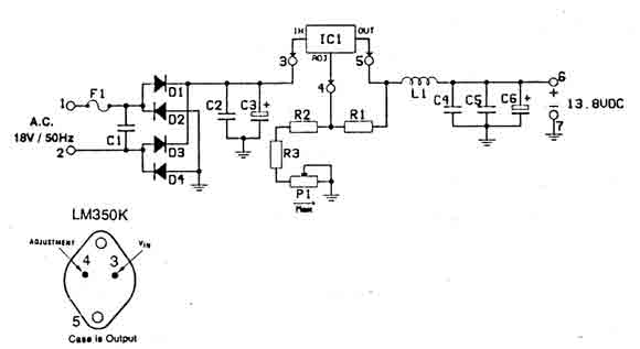 anti rf filtered power supply 12 14 volt 3a filter circuit basic circuit circuit diagram