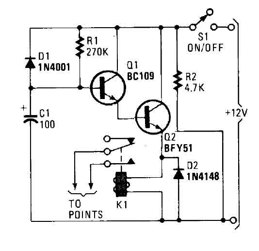 car immobilizer circuit - basic circuit