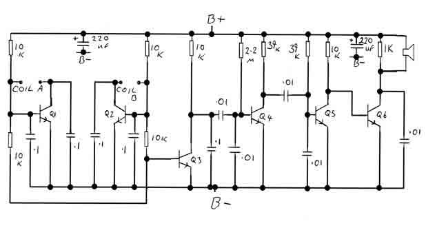 Bfo Metal Detector Circuit Diagram | Bfo Metal Detector Circuit Measuring And Test Circuit Circuit