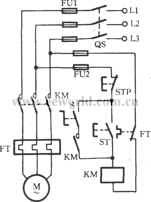 Change-over Switch Selecting Operating Mode Circuit - Basic Circuit - Circuit Diagram