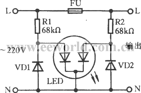 Fuse Indicator Circuit With Discoloring Light Emitting Diode
