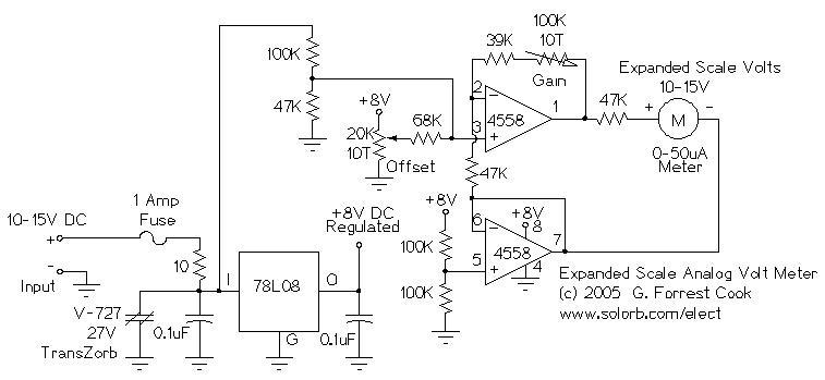12v Analogue Battery Volt Meter - Battery Charger