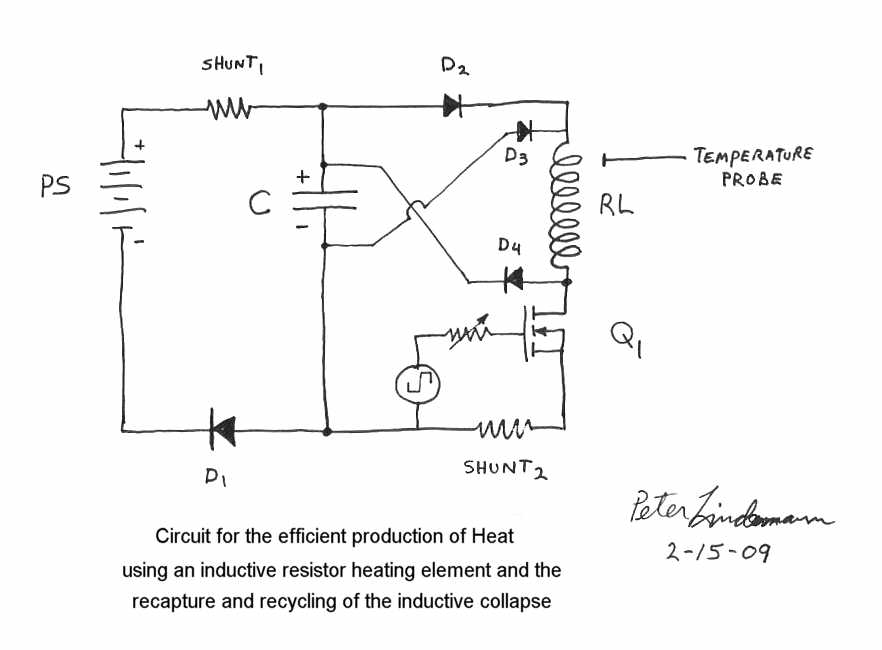 Free heater circuit by Rosemary Ainslie on vacuum tube tesla coil