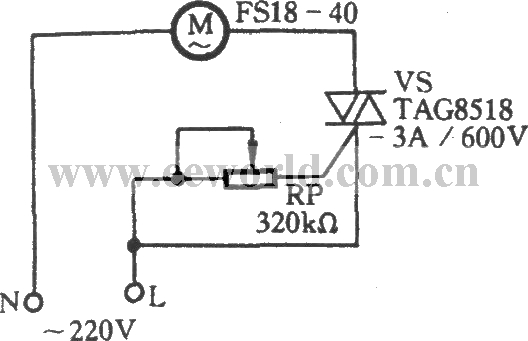 triac governor circuit - control circuit - circuit diagram