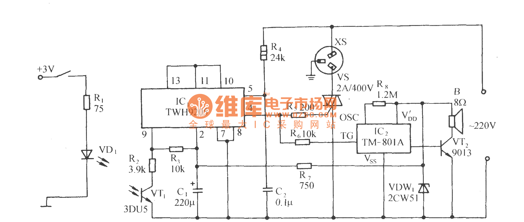 Photocoupling Zero Crossing Control Socket Circuit Using Twh9205 Electric Sunroof Basiccircuit Diagram Seekic