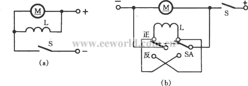 dc shunt motor commutation circuit