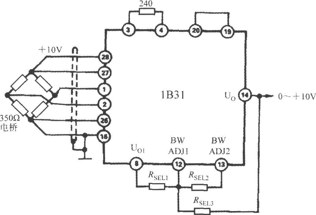 resistor to raise the cutoff frequency   broadband strain
