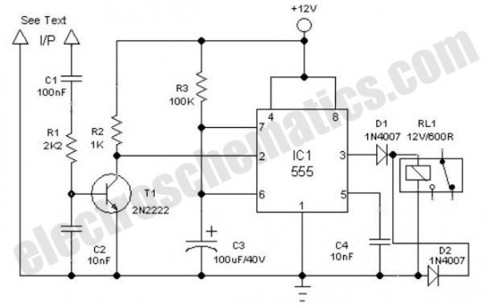 quartz controlled bedroom light switch - control circuit - circuit diagram