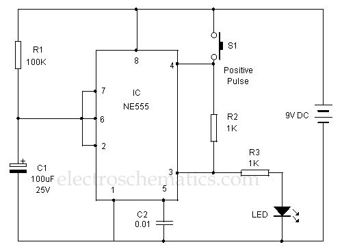 positive trigger timer circuit - electrical equipment circuit - circuit diagram