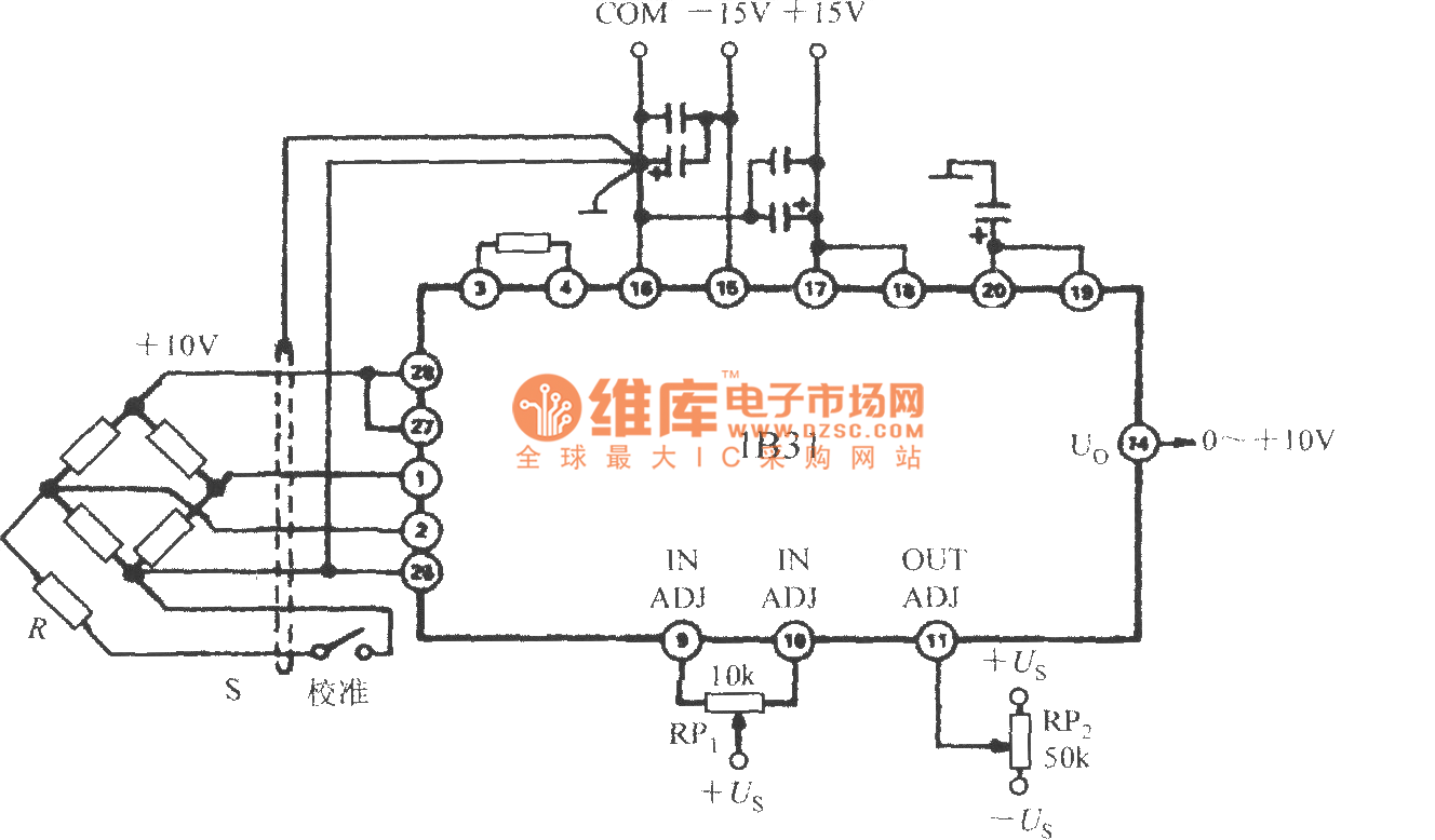 the interface circuit of pressure transmitter wideband strain signal conditioner 1b31 basic