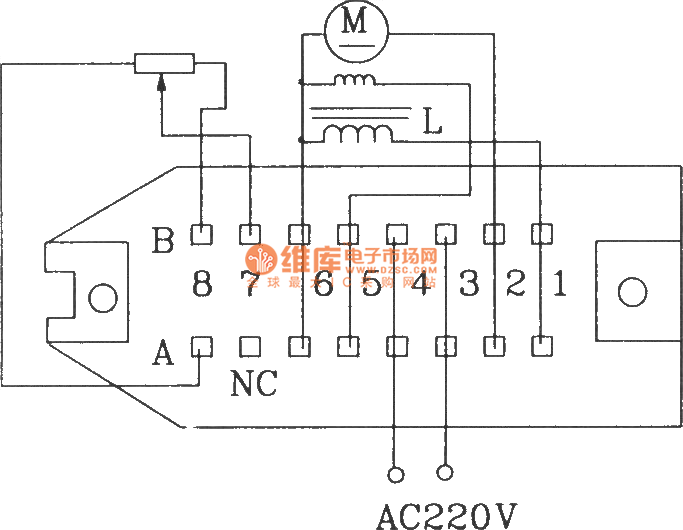 small power dc motor control component kcz1 electrical schematic diagram and external wiring